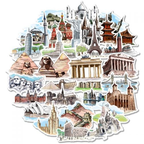 Stickers - World Architecture Landmarks (40pcs bag) (NEW)