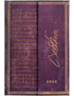 Paperblanks Beethoven Mini | Week-at-a-Time 2022 Diary HOR (NEW)