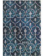 Paperblanks Blue Velvet Mini | Week-at-a-Time 2022 Diary HOR (NEW) (PRE-ORDER)