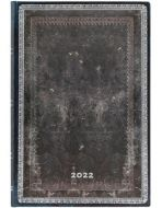 Paperblanks Midnight Steel Mini | Week-at-a-Time 2022 Diary VSO
