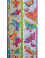 Paperblanks Hummingbirds & Flutterbyes Slim   Week-at-a-Time 2022 Diary HOR (NEW)