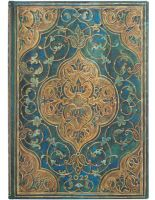 Paperblanks Turquoise Chronicles Midi | Week-at-a-Time 2022 Diary HOR
