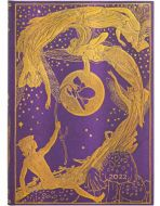 Paperblanks Violet Fairy Midi | Week-at-a-Time 2022 Diary HOR (NEW) (PRE-ORDER)