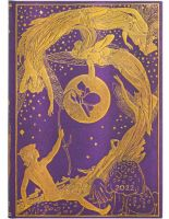 Paperblanks Violet Fairy Midi | Week-at-a-Time 2022 Diary HOR (NEW).