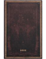 Paperblanks Black Moroccan Maxi | Week-at-a-Time 2022 Diary VER