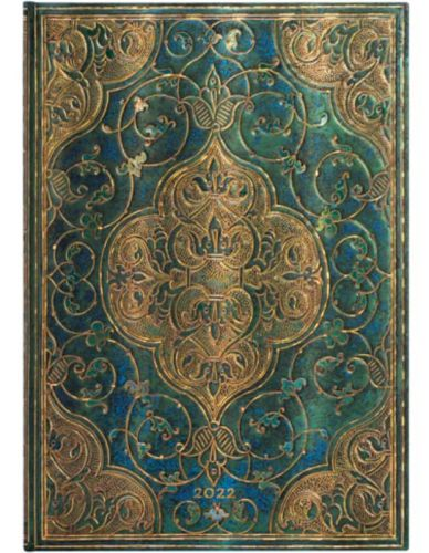 Paperblanks Turquoise Chronicles Grande | Week-at-a-Time 2022 Diary VER