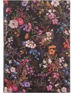 Paperblanks Floralia Flexi Midi   Day-at-a-Time 2022 Diary (NEW) (RARE) (PRE-ORDER)