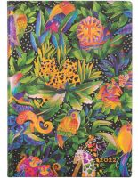 Paperblanks Jungle Song Flexi Midi | Week-at-a-Time 2022 Diary HOR (NEW) (PRE-ORDER)