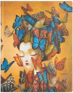 Paperblanks Madame Butterfly Flexi Ultra | Week-at-a-Time 2022 Diary VER (NEW) (PRE-ORDER)
