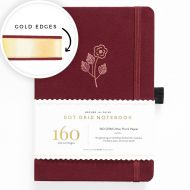 Archer & Olive A5 Rose Gold Dot Grid Notebook with Gold Gilded Edges 160pp Red/Gold (NEW)