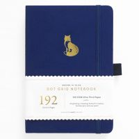 Archer & Olive A5 Clever Fox Dot Grid Notebook 192pp Blue/Gold (NEW)