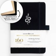 Archer & Olive A5 Garden Slither Neapolitan Dot Grid Notebook 160pp Black/Silver (NEW)