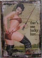 Book Box - Lucky Lures Vintage Fishing Pinup Girl Large