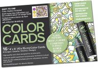 Chameleon Colour Cards - Floral Patterns (embossed)