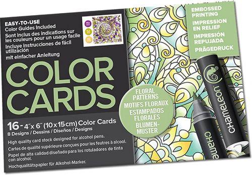 Chameleon Colour Cards - Floral Patterns (embossed)