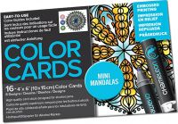 Chameleon Colour Cards - Mini Mandalas (embossed)