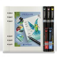 Chameleon Pens & Filofax Clipbook A5 White Bundle (NEW)