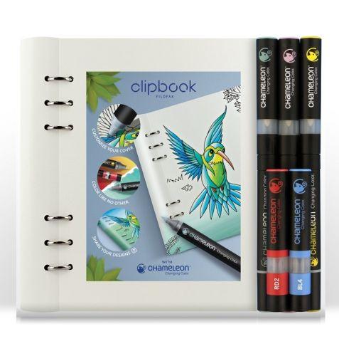 Chameleon Pens & Filofax Clipbook A5 White Bundle (NEW)