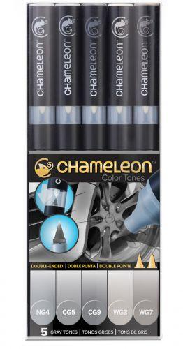 Chameleon 5-Pen Grey Tones Set