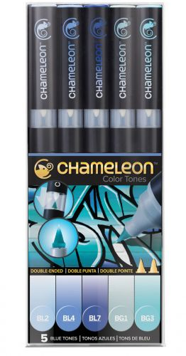 Chameleon 5-Pen Blue Tones Set.