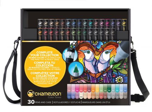 Chameleon 30-Pen New Colours Set (with case).