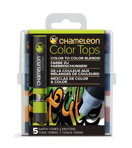 Chameleon 5 Colour Tops Earth Tones Set (NEW)