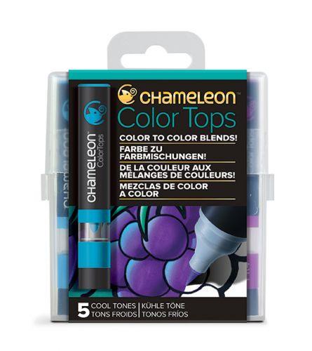Chameleon 5 Colour Tops Cool Tones Set