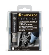 Chameleon 5 Colour Tops Grey Tones Set (NEW)