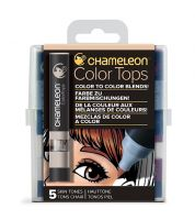 Chameleon 5 Colour Tops Skin Tones Set (NEW)