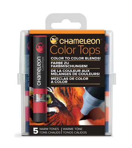 Chameleon 5 Colour Tops Warm Tones Set