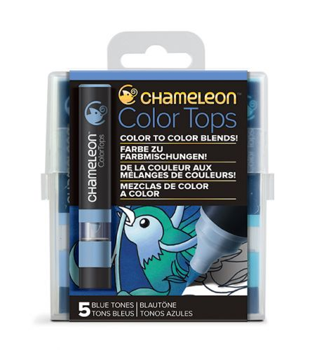 Chameleon 5 Colour Tops Blue Tones Set