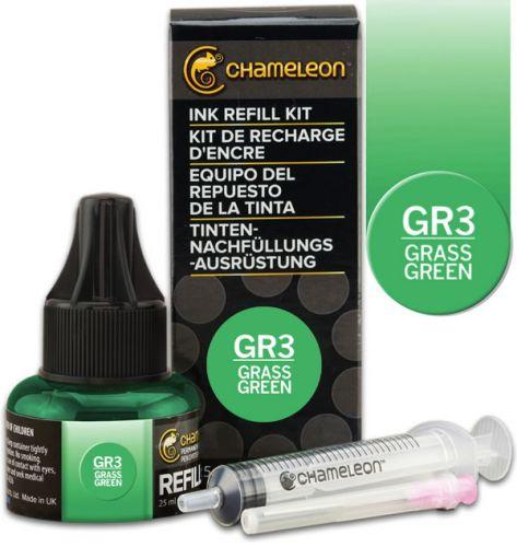 Chameleon Ink Refill 25ml - Grass Green GR3