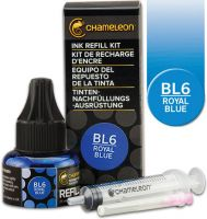 Chameleon Ink Refill 25ml - Royal Blue BL6