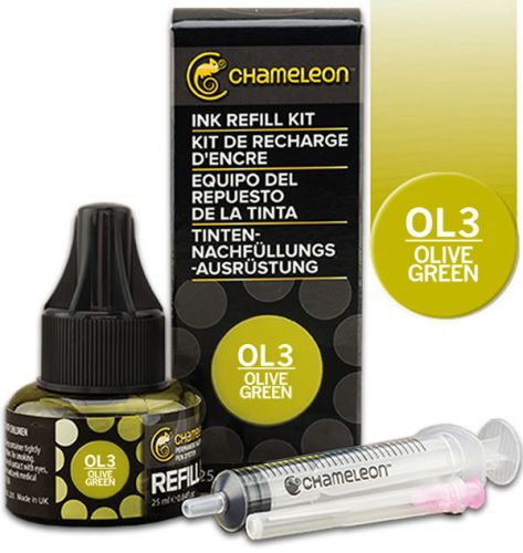 Chameleon Ink Refill 25ml - Olive Green OL3