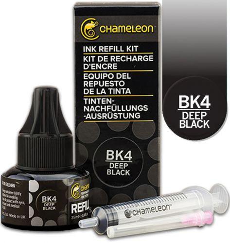 Chameleon Ink Refill 25ml - Deep Black BK4