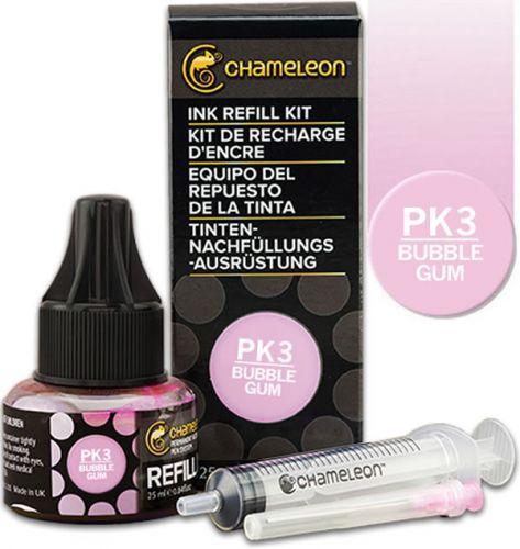 Chameleon Ink Refill 25ml - Bubble Gum PK3.