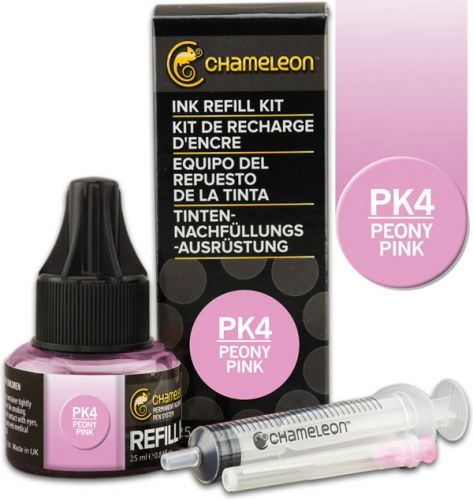 Chameleon Ink Refill 25ml - Peony Pink PK4
