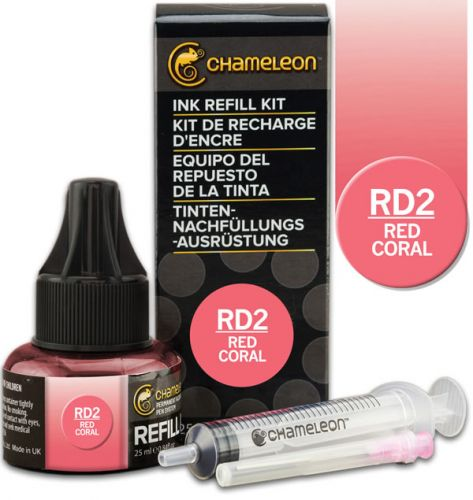 Chameleon Ink Refill 25ml - Red Coral RD2