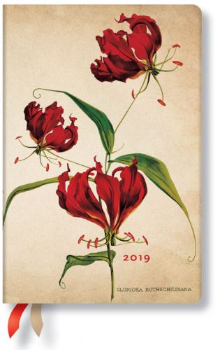 Paperblanks Gloriosa Lily Mini | Day-at-a-Time 2019 Diary (NEW)