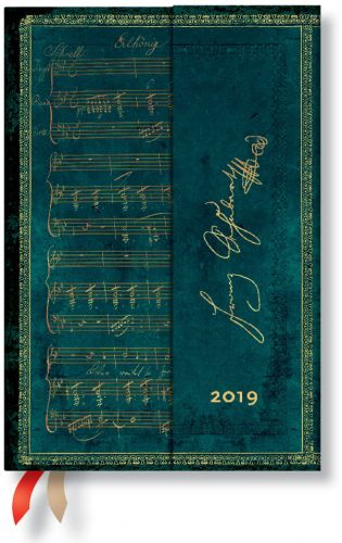 Paperblanks Schubert Mini | Day-at-a-Time 2019 Diary (NEW).