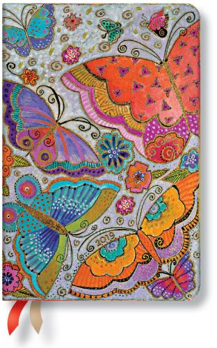 Paperblanks Flutterbyes Mini | Week-at-a-Time 2019 Diary VSO (NOTE: 2019)