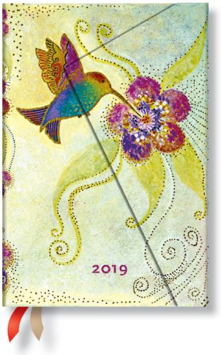 Paperblanks Hummingbird Mini | Week-at-a-Time 2019 Diary VSO (RARE)