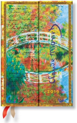 Paperblanks Monet (Bridge) Mini | Week-at-a-Time 2019 Diary HOR (NOTE: 2019)