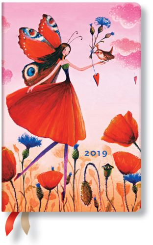Paperblanks Poppy Field Mini | Week-at-a-Time 2019 Diary VSO (NOTE: 2019)