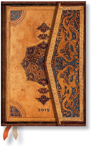 Paperblanks Safavid Mini | Week-at-a-Time 2019 Diary HOR (NOTE: 2019)