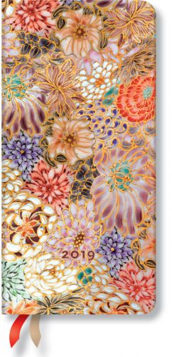 Paperblanks Kikka Slim | Week-at-a-Time 2019 Diary HOR (NOTE: 2019)