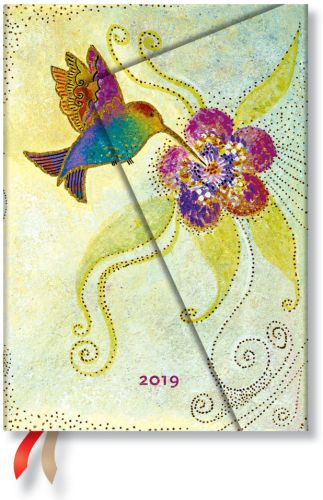 Paperblanks Hummingbird Midi | Day-at-a-Time 2019 Diary (PRE-ORDER)