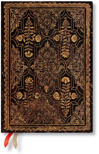 Paperblanks Mahogany Midi | Day-at-a-Time 2019 Diary (NEW) (OOS)