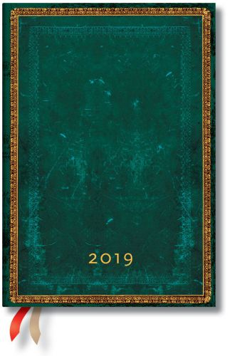 Paperblanks Viridian Midi | Day-at-a-Time 2019 Diary (OOS)