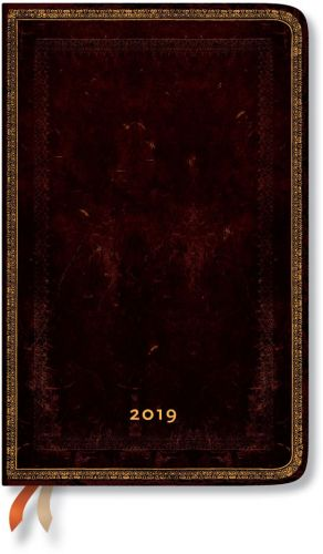 Paperblanks Black Moroccan Maxi | Week-at-a-Time 2019 Diary HOR (OOS)